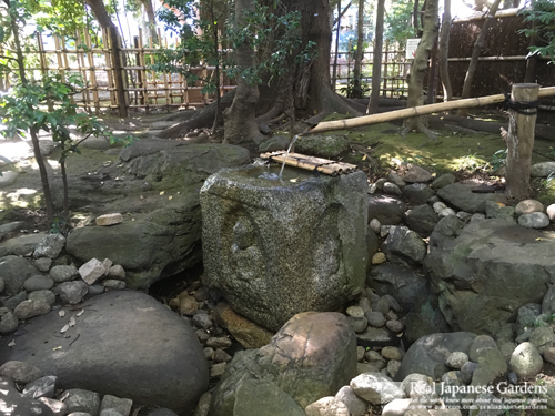 Recycled Water Basin with Buddha